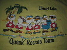 Elkhart Lake Quack Rescue Team Vintage 80S Novelty Tee Shirt Ducks Fun Tee Xl