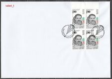 2019 Bulgaria  Space 40 years from the flight of Georgi Ivanov Block of 4 on FDC