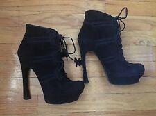 Yves Saint Laurent Lynn Vintage Suede Lace Up Boots 90's