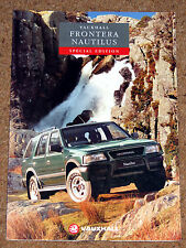 1994 VAUXHALL FRONTERA NAUTILUS Sales Brochure -Special Edition Model 2.4i 2.3TD