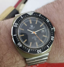 RARE VINTAGE TISSOT SIDERAL 40MM DIVER WATCH AUTOMATIC WORKING