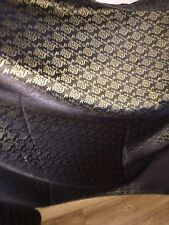 "3 MTR (NEW) BLACK/GOLD BROCADE FABRIC...45"" WIDE £11.99 SPECIAL OFFER"