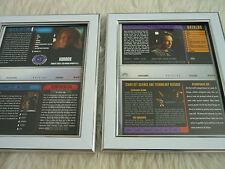 Star Trek Voyager Think Tank & Cold fuego 2.3 Paquete Cubierta Vhs Mangas Enmarcado