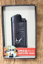 Imco Pipe Lighter - CHIC4 Pipe Black - Incl. Silverware - Nip - 1800003