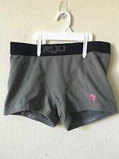 RYU Gray Black Performance Compression Athletics MMA Slip Grip Shorts, Size M