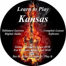 Kansas Guitar TABS Lesson CD 26 Songs + Backing Tracks + BONUS!