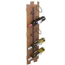 Étagère murale à vin HWC-B99, bois métal 5 bouteilles 96x23x14cm