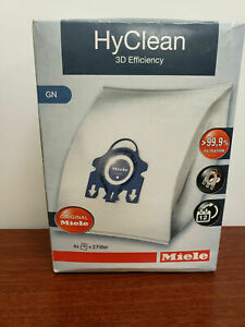 4x Genuine New 3D Efficiency HyClean Dust Bags For Miele GN Vacuum Cleaners NIB!