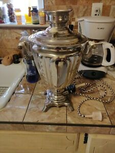 Vintage Old Water Heater Russian Samovar Rocket Electric Teapot Made USSR 1978