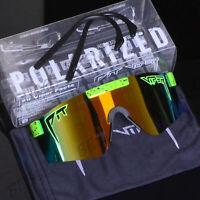 PIT VIPER Sport Mirrored Goggles TR90 Polarized Sunglasses For Men/Women Outdoor