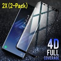 1/2x Samsung Galaxy S9 S8 Plus Note 8 9 Full 4D Tempered Glass Screen Protector