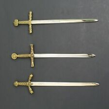 Miniature Sword Set of 3 Medieval House Letter Opener Gift by Denix Replicas