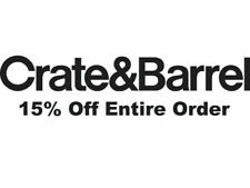 Crate and Barrel 15% OFF Full Purchase Coupon Expires 7/31/2020