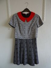 Black/Cream/Red Patterned Dress size 8-10. Perfect condition.