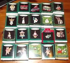 Hallmark Keepsake ornament lot of 20 miniatures w boxes