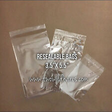 """500- Polypro 3.5""""x5.5"""" Resealable Tape Strip Bags, Clear as Glass, USA Seller"""