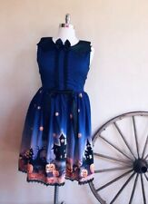 HALLOWEEN DRESS Cute Pumkin Jack-O-Lantern Black Cat Haunted House Plus Sz 18/20