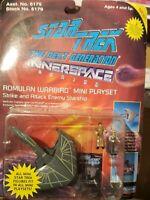 "RARE Star Trek TNG Innerspace ""Romulan Warbird"" Mini Playset 1994 Playmates NIP"