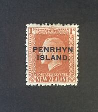 1917 Cook Islands KGV Penrhyn sg 27b?  1/ vermillion MH