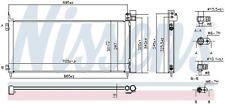 NISSENS Kondensator, Klimaanlage  für LEXUS