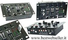 Mixer Audio Per DJ 4 Canali + Porta USB Con Lettore Mp3 BWS153