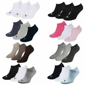 6 Paar Puma Sneaker Invisible Socken Gr. 35 - 49 Unisex für Damen Herren Füßling