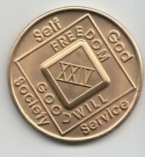 24 Years XXIV - Narcotics Anonymous recovery medal token chip coin