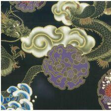 Fat Quarter Hiko Japonais Oriental Dragon à coudre coton quilting tissu