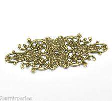 30 Connecteurs Pendentifs Charm Bronze Pr Bracelet Collier 8.5x3.4cm