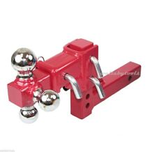 "New Adjustable 2"" Reciever Hitch Tri Ball PRO Mount 10"" 3 Way Triple Tow Hitch"