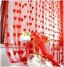 Cortinas y visillos color principal rojo de baño