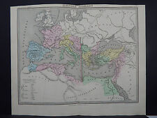 Antique Map 1843, Empire Romain (Roman Empire)