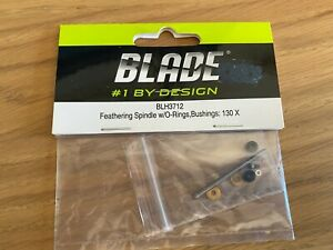 BLH3712: Feathering Spindle W/o-rings, Bushings: 130x Blade 130 X NEW