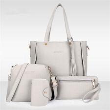 4pcs Set Donna Borsa Spalla Tracolla PU Pelle Portafoglio Handbags Bag Purse New