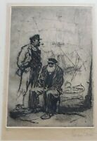 "Gordon Grant, Signed original etching 10 x 7, ""the ancient mariners"""