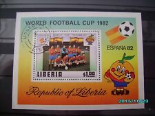 schöner Fussballblock Spanien 1982 gestempelt