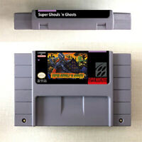 Super Ghouls 'N Ghosts Game Card Console For Nintendo SNES US Version 16 Bit Eng