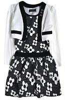 Girls Floral Dress New Kids Jacket Outfit Party Dresses Set Age 2 2-3 3-4 Years