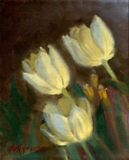 Tulips - Floral   10x8 in. Original Oil on stretched canvas HALL GROAT II
