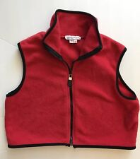 My Michelle Juniors Girls Fleece Cropped Sleeveless Jacket Vest Size 16 Red