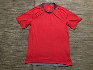 Lululemon Mens Small? Shirt Short Sleeve Red