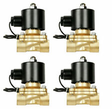 "solenoid valves air 1/4""npt four brass for train horn custom air ride suspension"