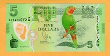 Fiji UNC Polymer $5 Dollars ND 2013 P-115a Banknote