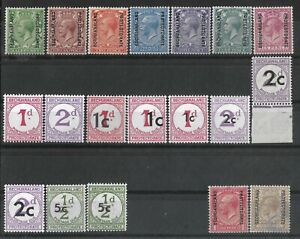 BECHUANALAND 1913-61 Collection Kgv & Dues Mint Hinged/MNH.