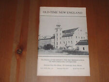Old-Time New England Bulletin Of Society For Preservation Of Antiquities 1975