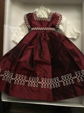 """Fashion Doll Exceptionally Crafted Burgundy Satin Dress w/ Cotton Blouse 12-14"""""""