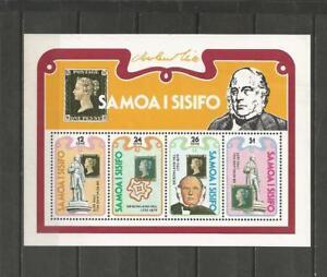 SAMOA - 1979  100th Anniversary of the Death of Rowland Hill, - MUH MINI SHEET.