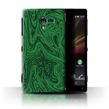 STUFF4 Back Case/Cover/Skin for Sony Xperia ZL LTE/Melted Liquid Metal Effect