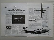 6/1984 PUB BEECHCRAFT KING AIR B200T AIRCRAFT AVION FLUGZEUG ORIGINAL GERMAN AD