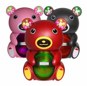 Teddy Bear 1500 Watts Portable Bluetooth Multimedia Speaker with LED light